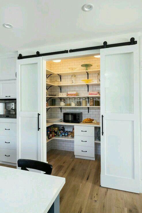 Ahorrando Espacio With Images Modern Country Kitchens Kitchen