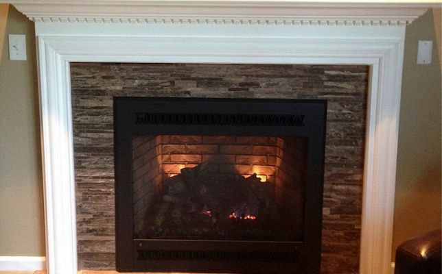 We Remodeled This Fireplace Completely Ensuring It Was Insulated
