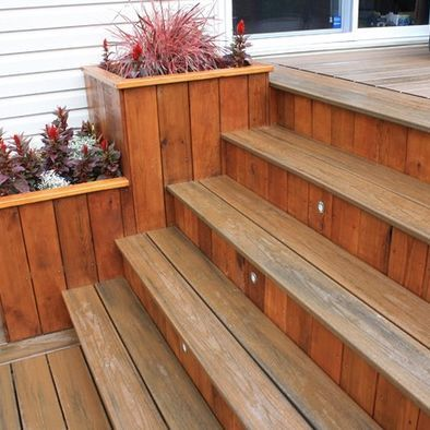 Best Patio Cedar Deck With Planters Design Pictures Remodel 400 x 300