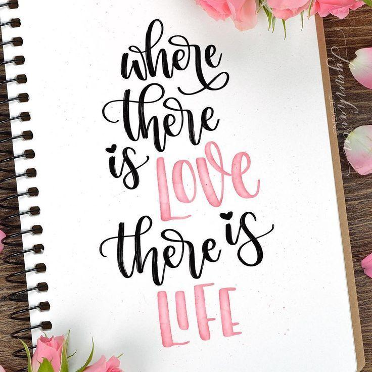 "Brigitte Lynn | Lettering on Instagram: ""The meaning of life 💗. . . . . . . .  #ipadlettering #goodtype #handlettering #lettering #moderncalligraphy #calligraphy #procreate…"""
