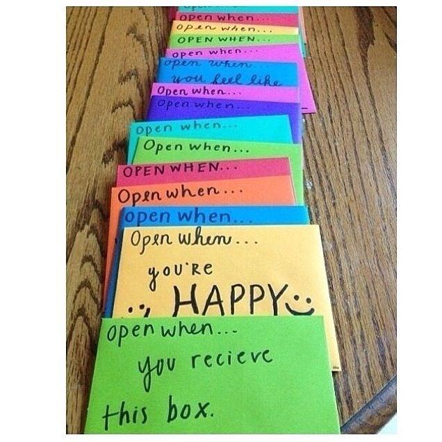 Make A Open When Letters For Your Boyfriendgirlfriend When She