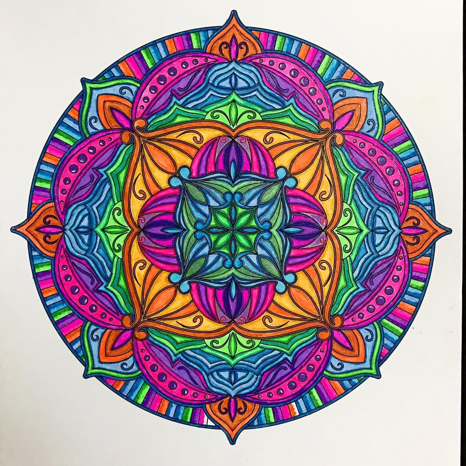 ColorIt Mandalas to Color Volume 1 Colorist: Marla Theodoro #adultcoloring #coloringforadults #mandalas #mandalastocolor