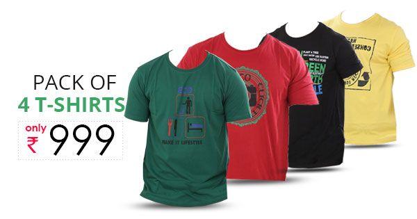 Urban Yoga Men S Colored Tshirts Pack Of 4 Mens Tees Yoga For Men Shirts