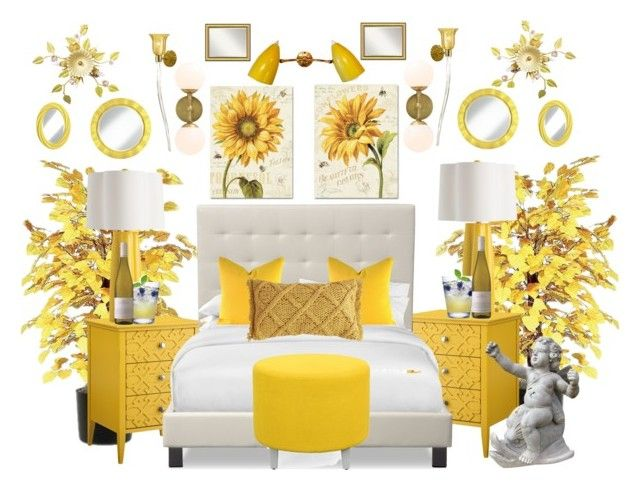 yellow haven by bcurryrice on polyvore featuring threshold trademark fine art canopy