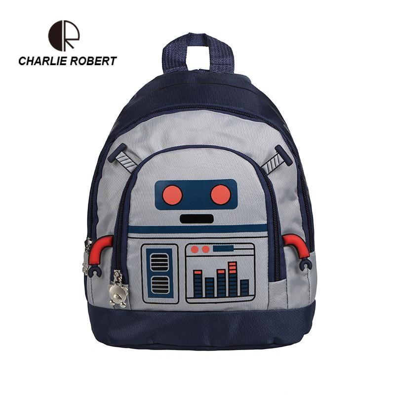 481eea771b Cute Robot Children Backpack For 1-3 years Kindergarden Boys Gilrs Cartoon Robot  Toddler Backpack