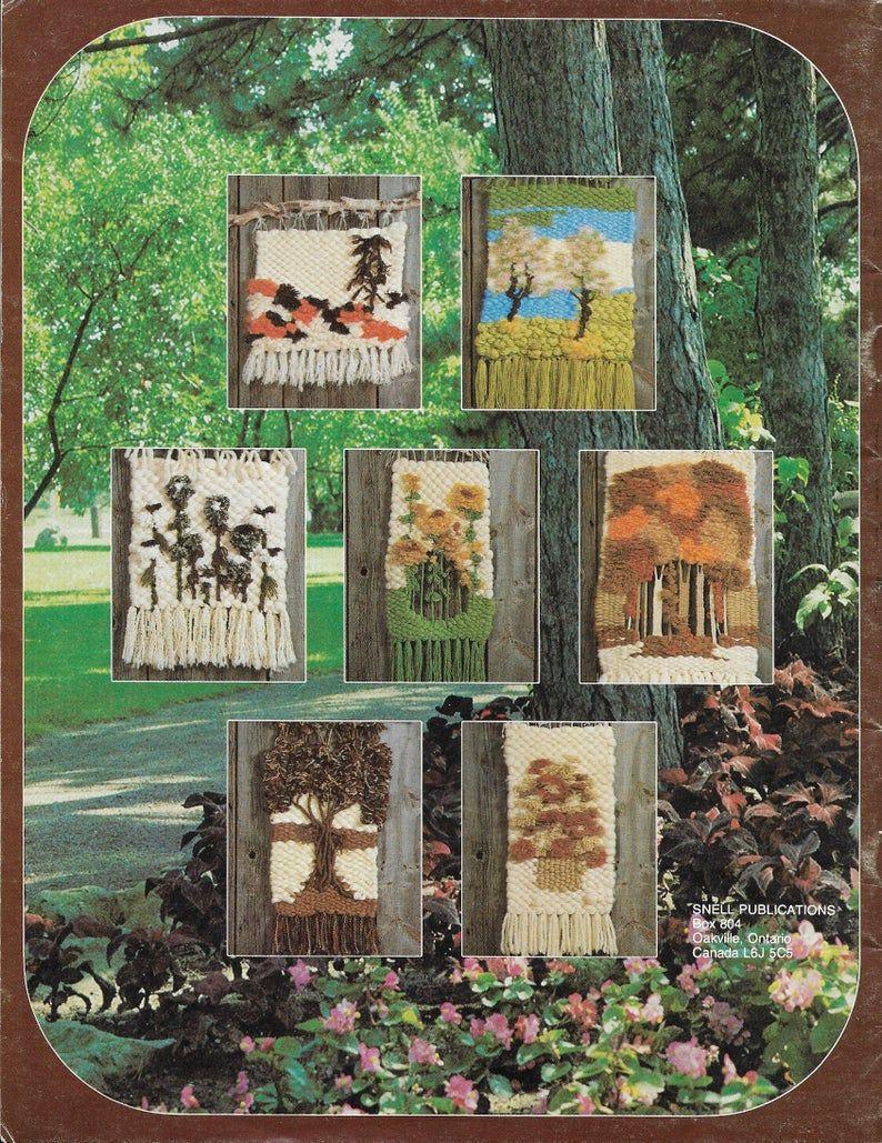 Weaving A Weavers Garden 1970s Flatloom Weaver Book Flower | Etsy