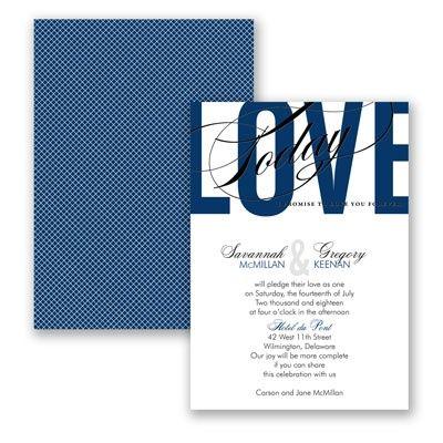 Typography Tribute - Marine - Invitation