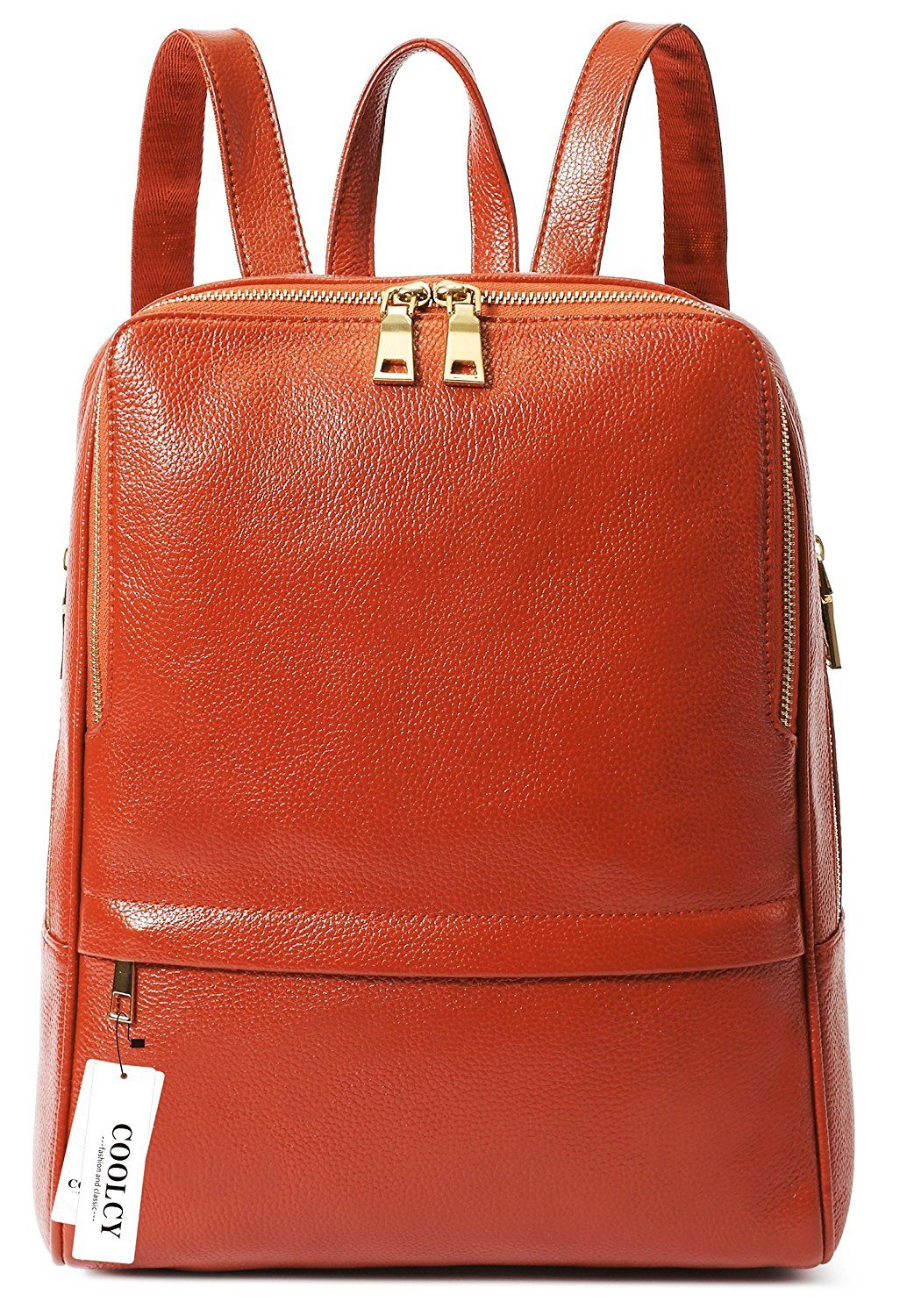 87f4d425266 Coolcy Hot Style Women Real Genuine Leather Backpack Fashion Bag    Check  out this great image   Travel Backpack