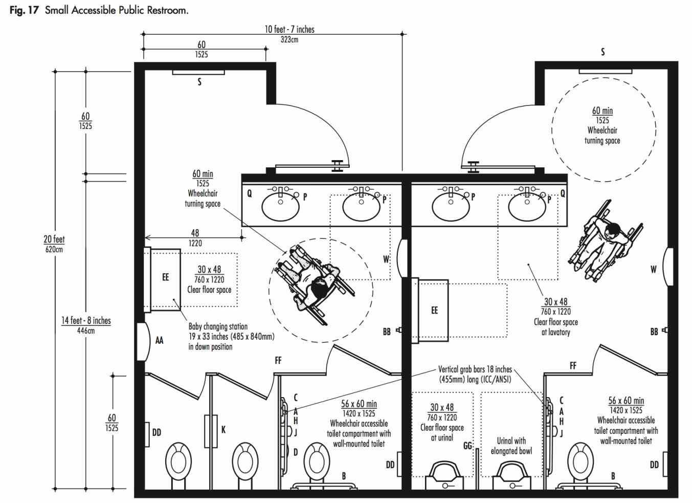 Image Result For Public Washroom Size Layout Di Bagno Bagni