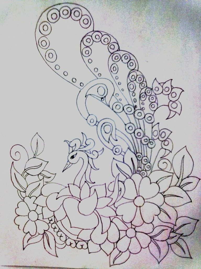 bed pattern coloring pages-#15