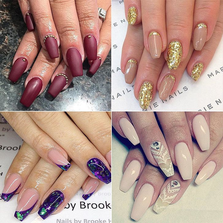 14 Coffin Nail Art Designs That Speak to Your Soul - 14 Coffin Nail Art Designs That Speak To Your Soul Coffin Nails