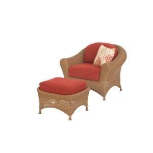 Martha Stewart Living Lily Bay 2 Piece Wicker Patio Chair