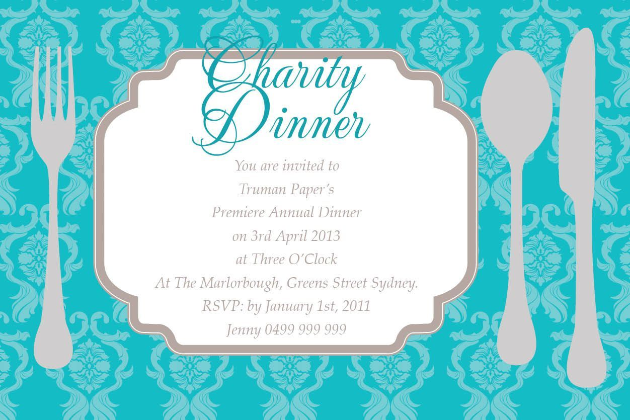 event invitation cards templates birthday invitations template if you are planning a charity event dinner then this corporate invitation that comes in tiffany blue is perfect decked in a delightful pattern