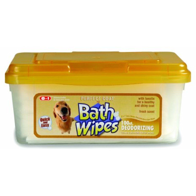 8 In 1 J7141tl Bath Wipes Perfect Coat Dog Deodorizer Continue