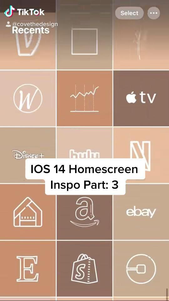 100 IOS 14 app icons  Autumn Fall October Orange R