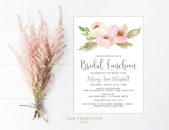 Bridal Luncheon Invitation INSTANT DOWNLOAD Editable Bridal Shower - Bridesmaid luncheon invitations template