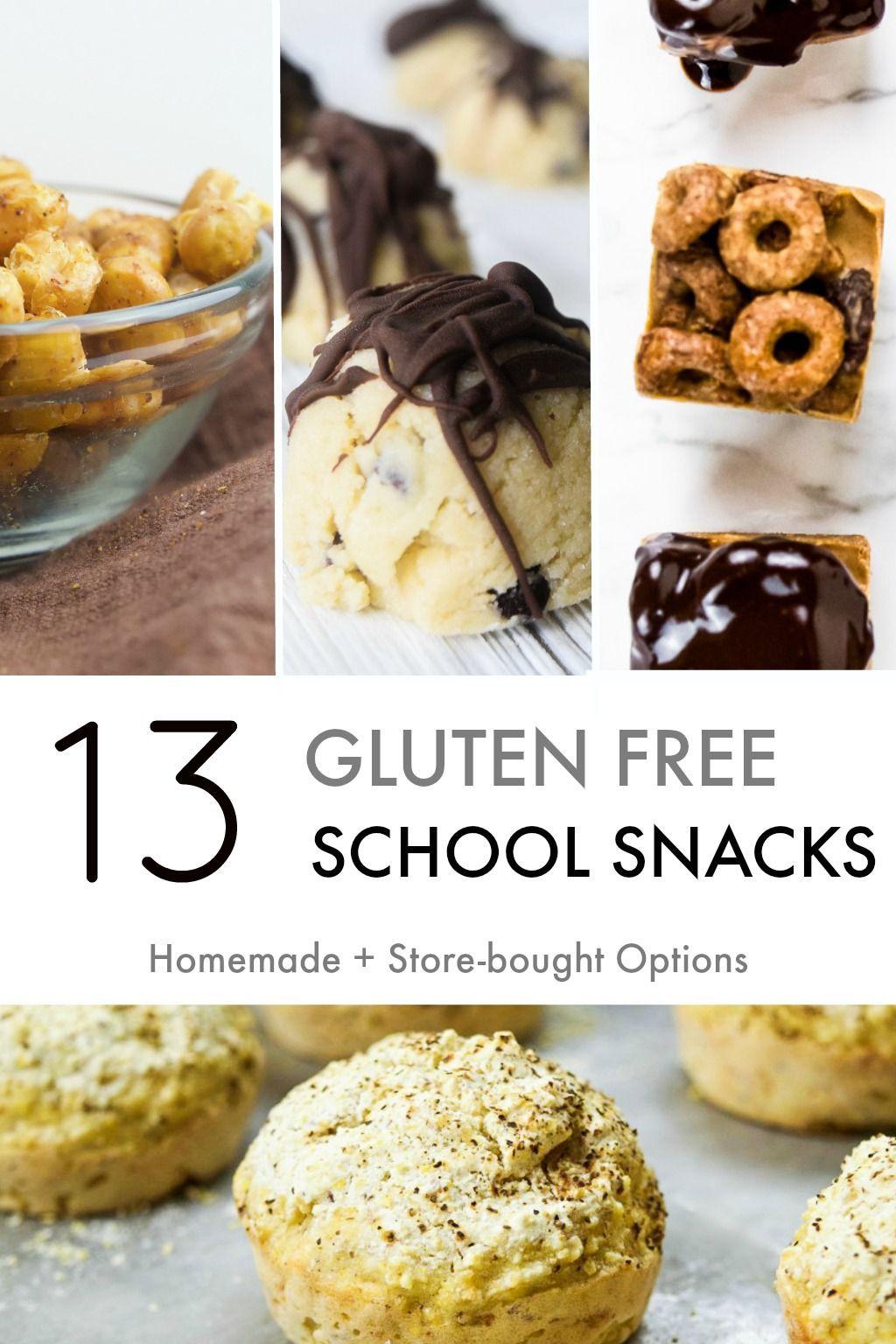 13 Gluten Free School Snacks (Homemade + Storebought