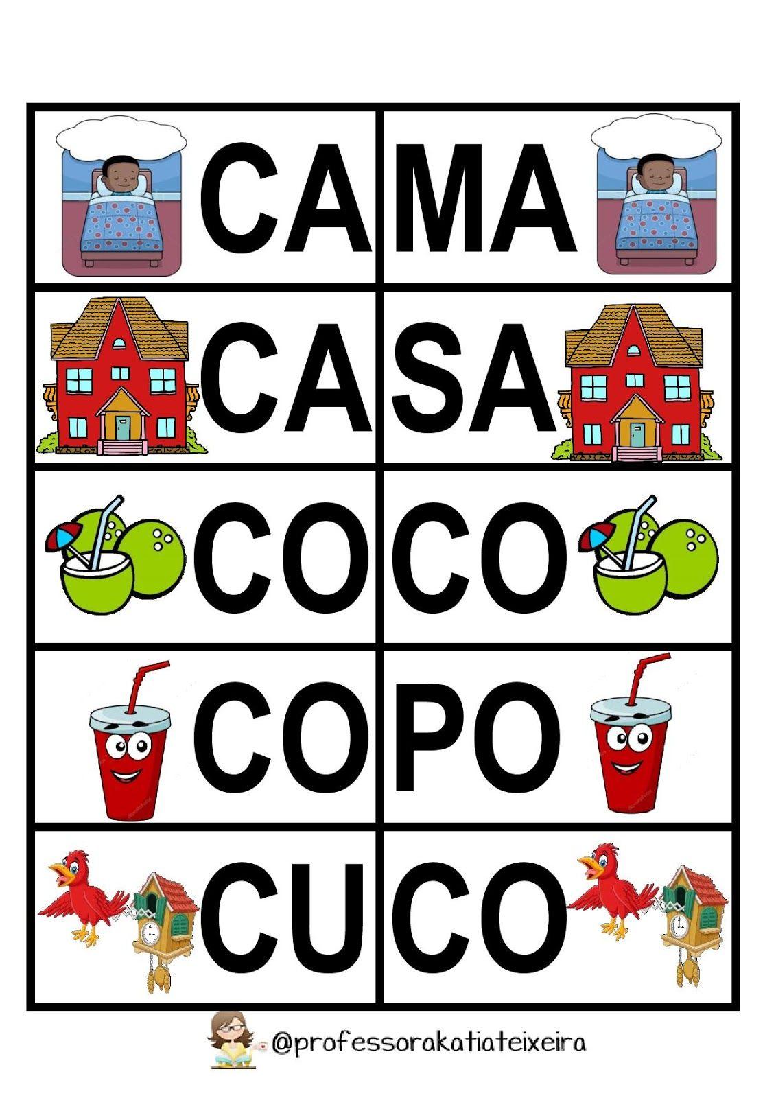 Jogo De Alfabetizacao Letras C D Palavras Dissilabas Jogos De