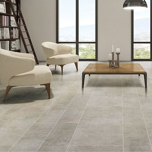 These Lovely Light Grey Limestone Effect Porcelain Tiles Look