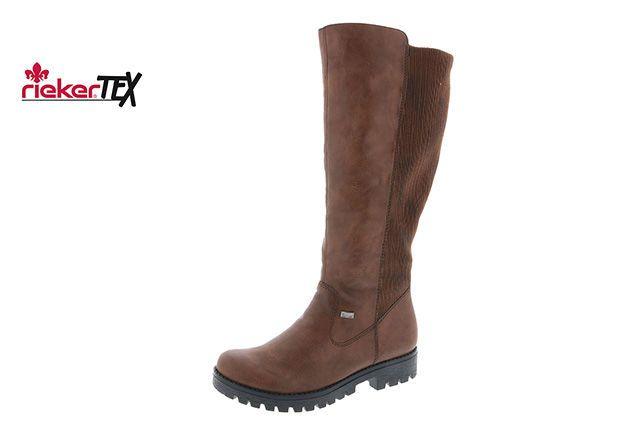 3f600b7621fe0 Hnedá dámska čižma značky Rieker | topanky | Obuv, Topánky, Čižmy