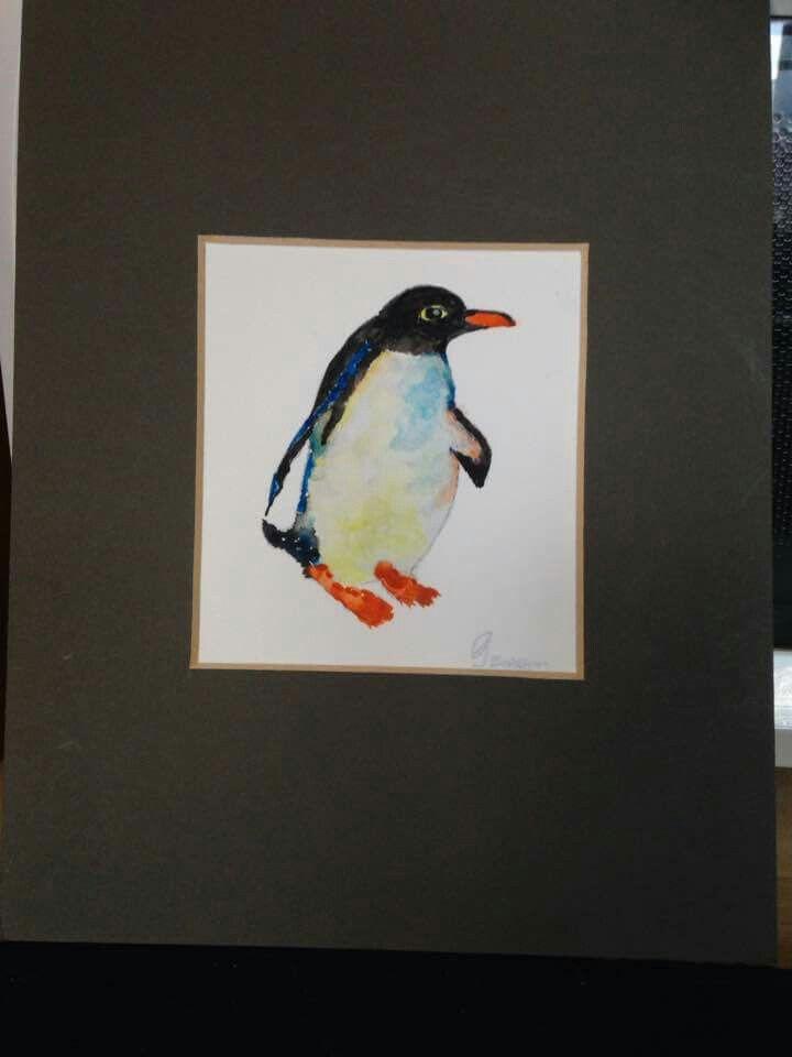 watercolour penguin