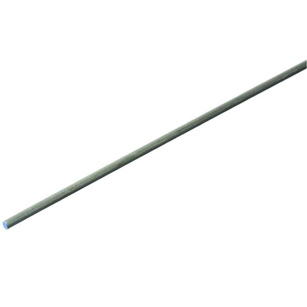 Everbilt 1 8 In X 48 In Plain Steel Cold Rolled Round Rod 801567 Cold Rolled Tent Pegs Basement Craft Rooms