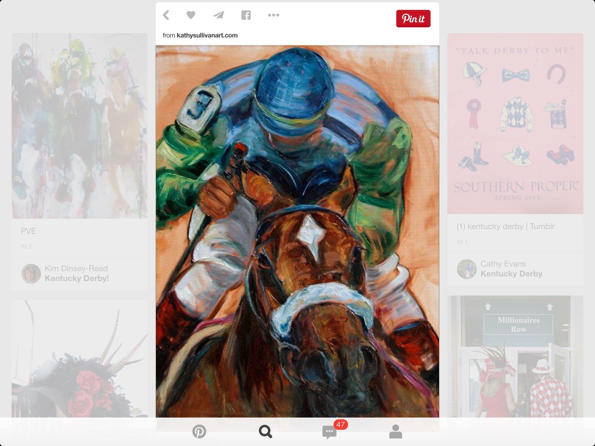 Pin by Pam Ludke on Derby art Kentucky derby, Derby