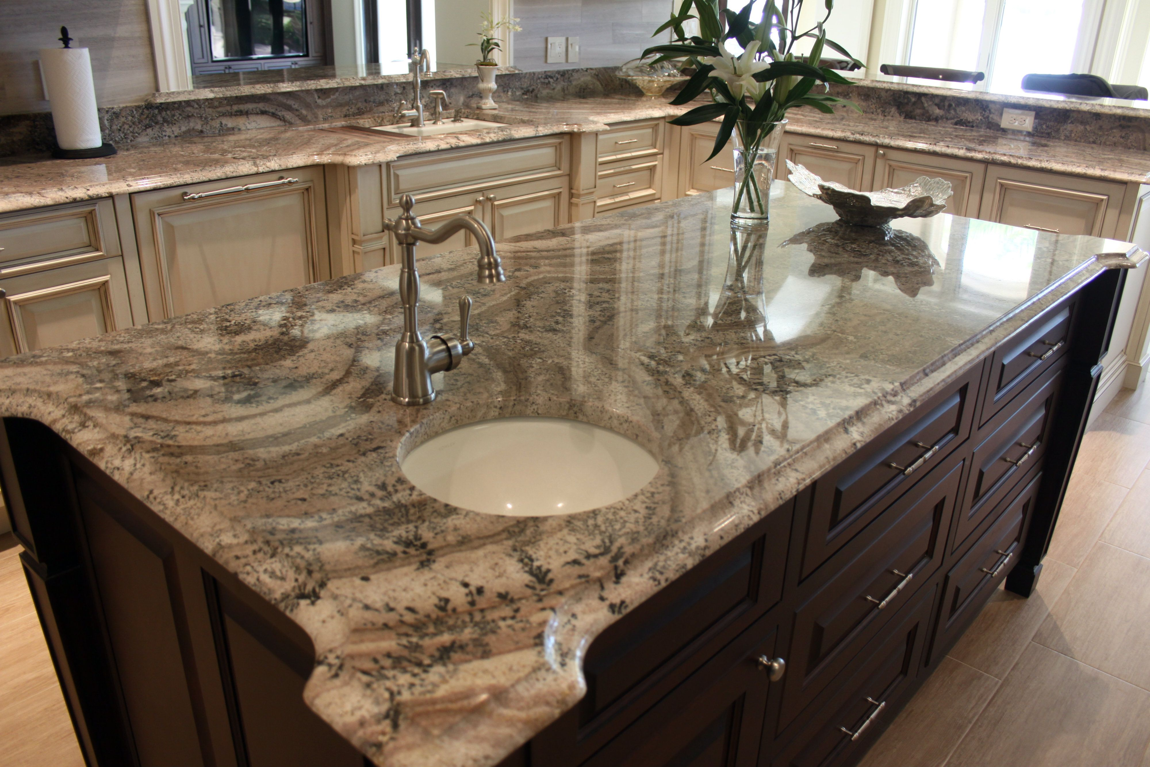 Juperana Peragahmino Granite Kitchen Island #SuperiorGranite #Granite # GraniteCountertops #Pensacola #Florida #