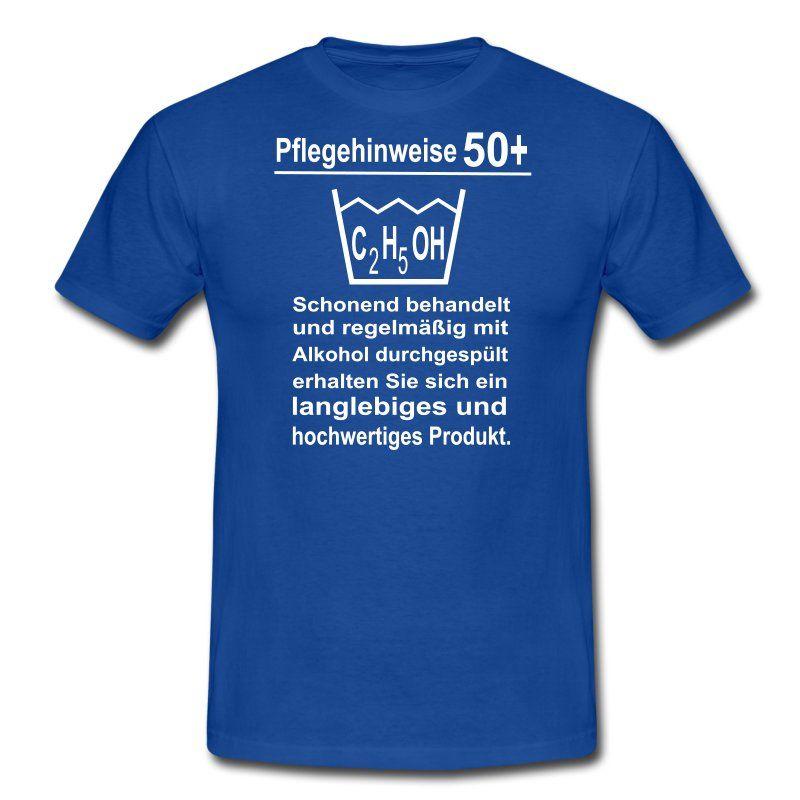 Lustiges Männer Sprüche T-Shirt zum 50. Geburtstag mit