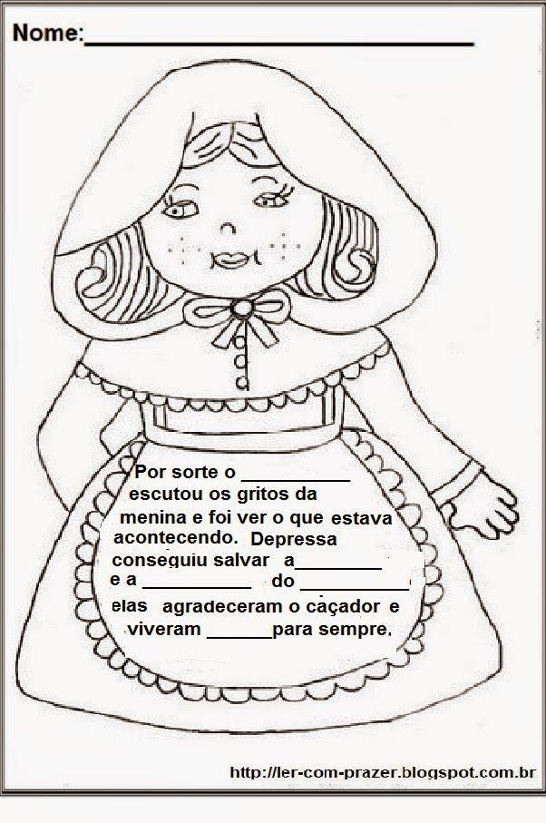 Chapeuzinho Vermelho Dia Do Livro Infantil Atividades