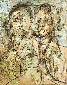 """""""Transparence (Maternité)"""", huile de Francis Picabia (1879-1953, France)"""