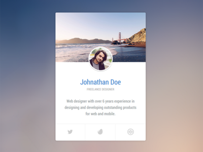 Profile Vcard Codepen Html Css3 Visiting Cards Ux Web Design Profile