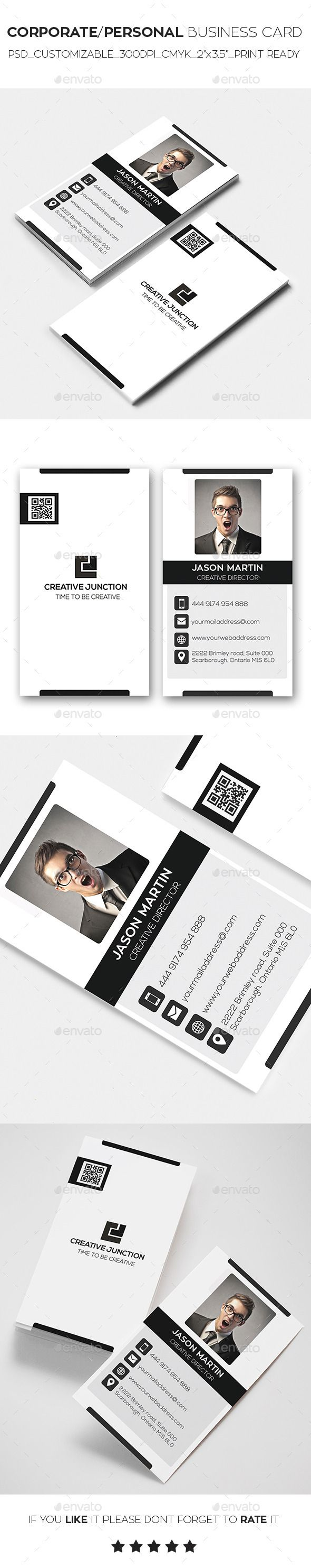 Corporate/Personal Business Card | Business cards, Business and Fonts