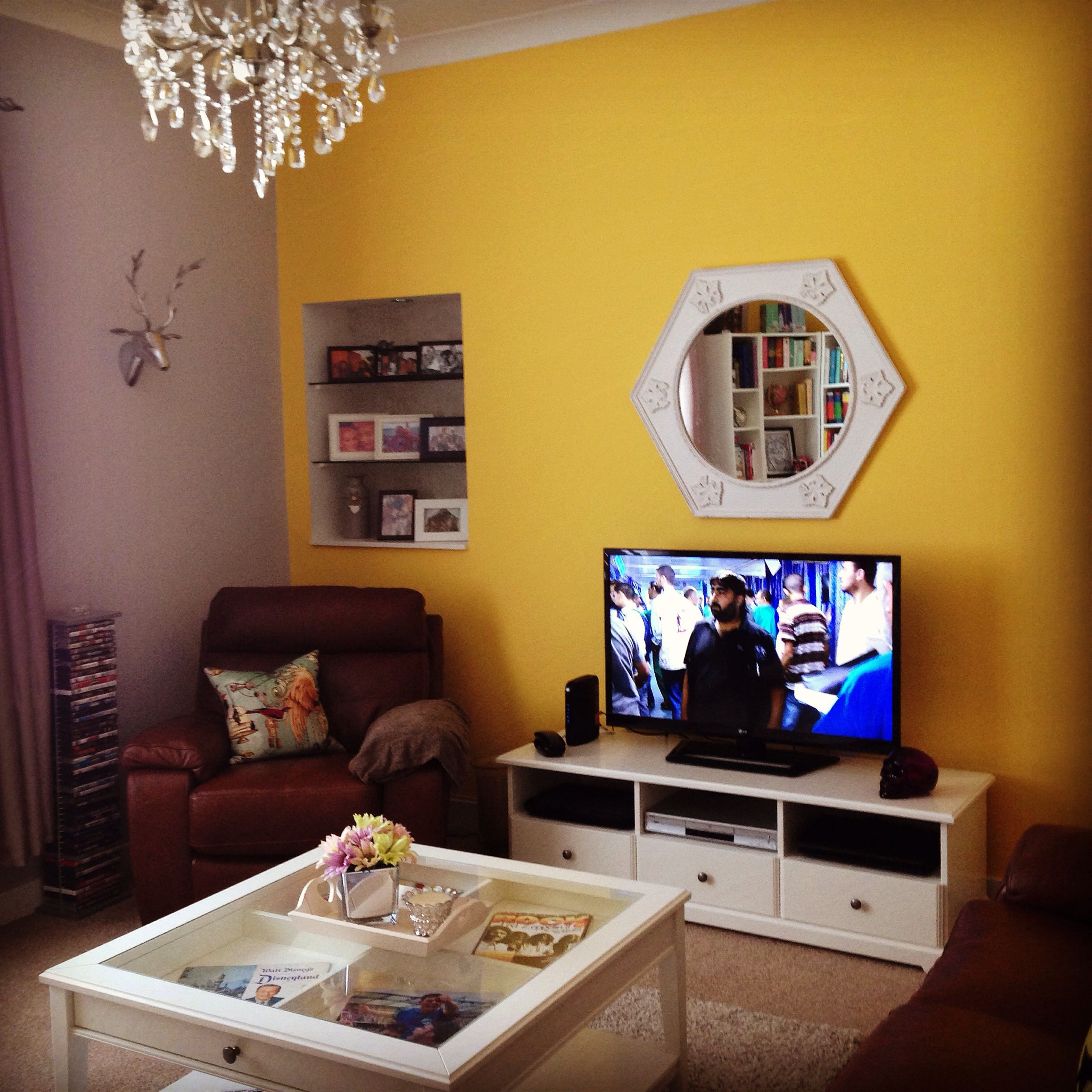 My yellow and grey living room, Liatorp TV unit and coffee table ...