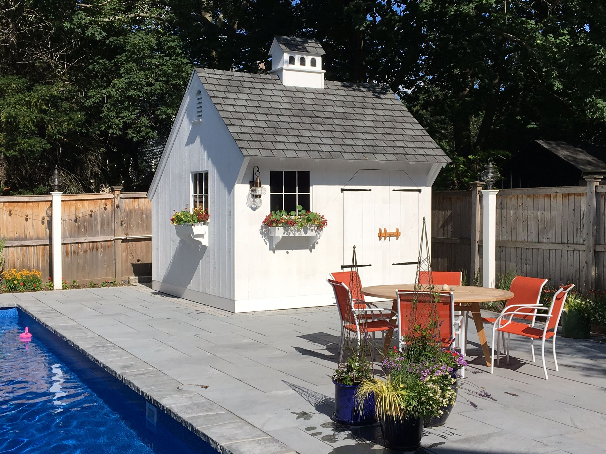Our 12 X 12 Saltbox Post Beam Pool House Www Countrycarpenters Com Shed Shed Sizes Diy Shed Plans