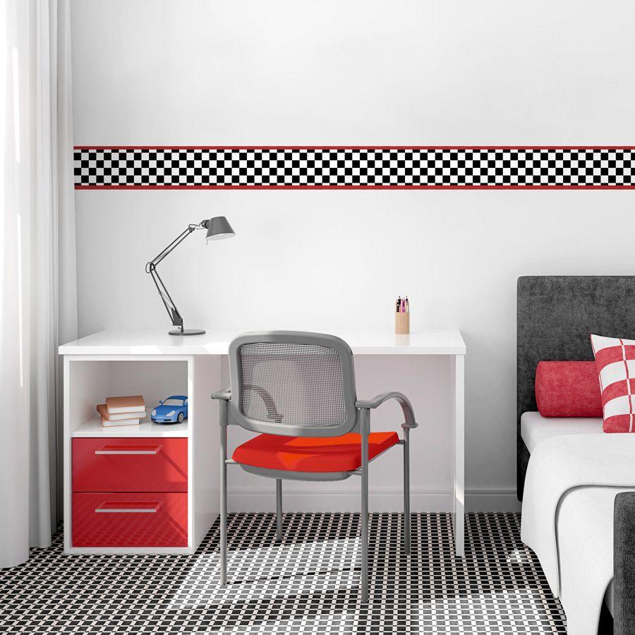 Racing Checker Removable Wallpaper Border | Ch elliott | Pinterest ...