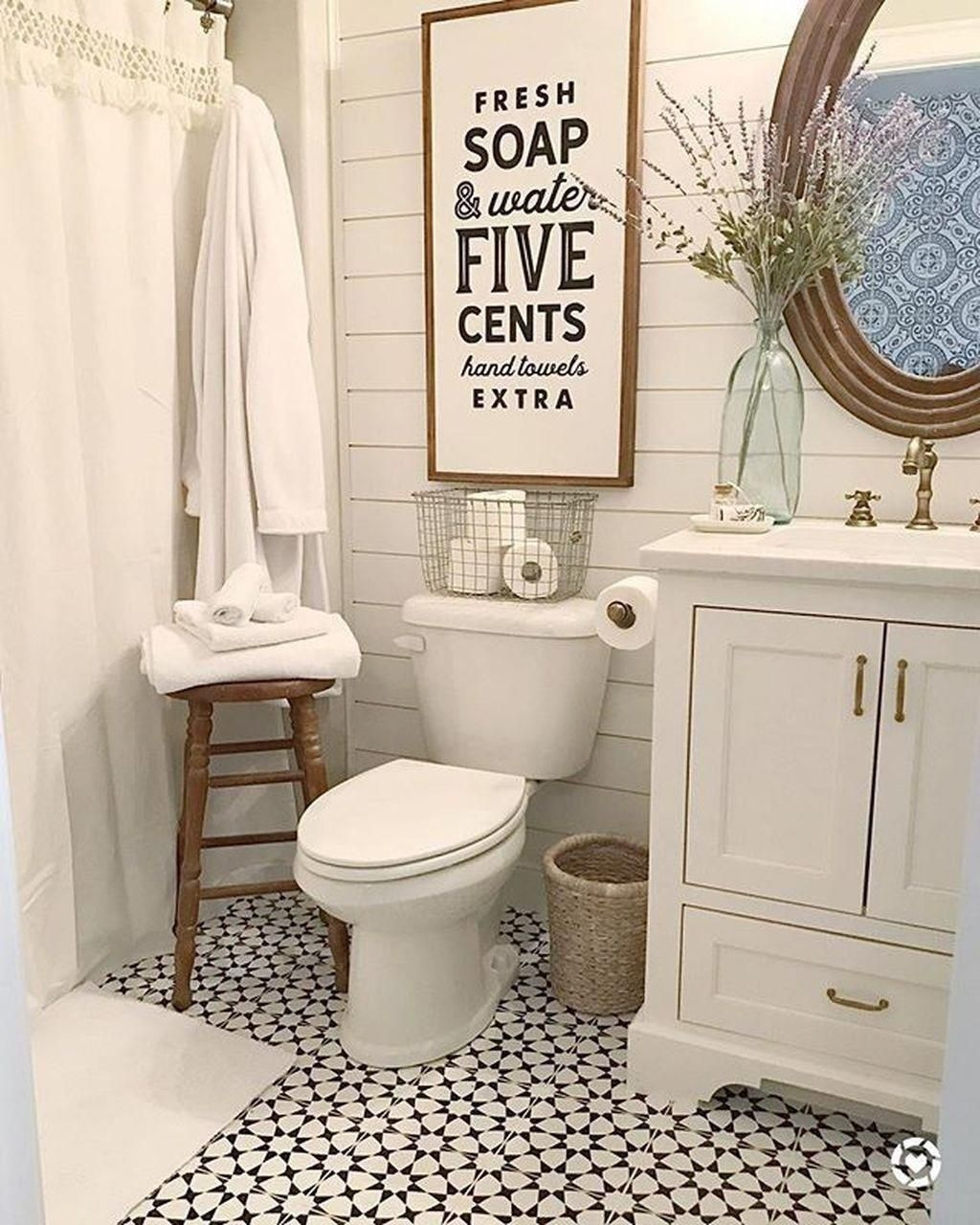 47 Nice Farmhouse Bathroom Remodel Ideas On A Budget - Page 25 of 47 #ModernHomeDecorBathroom,