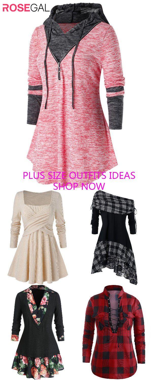 Rosegal plus size Women fashion t-shirts ideas  [Extra 20% OFF Code: RGFR20]