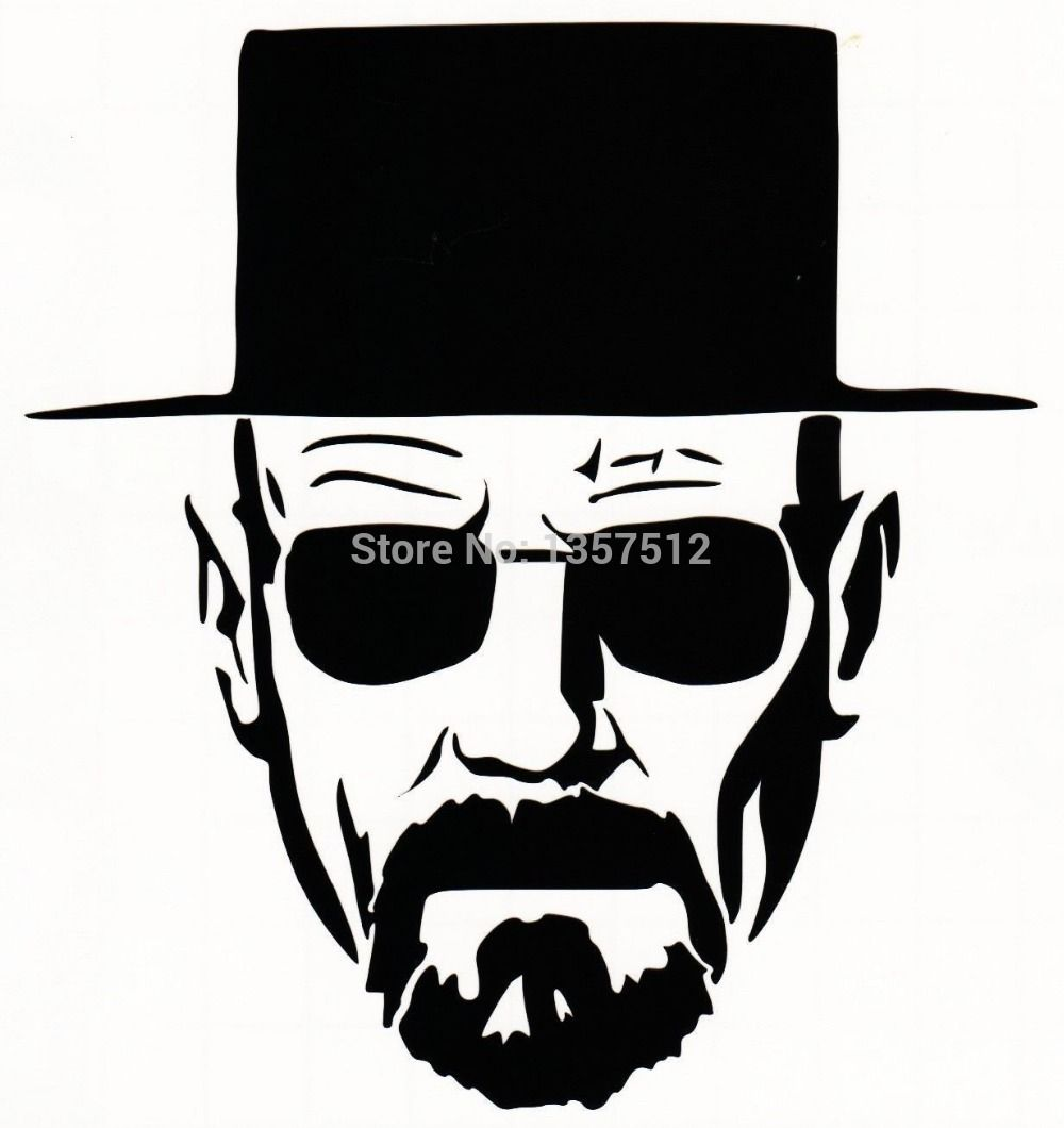 Heisenberg Very cool Vinyl Decal Sticker Car window motorcycle ... for Cool Sticker Design For Bike  587fsj