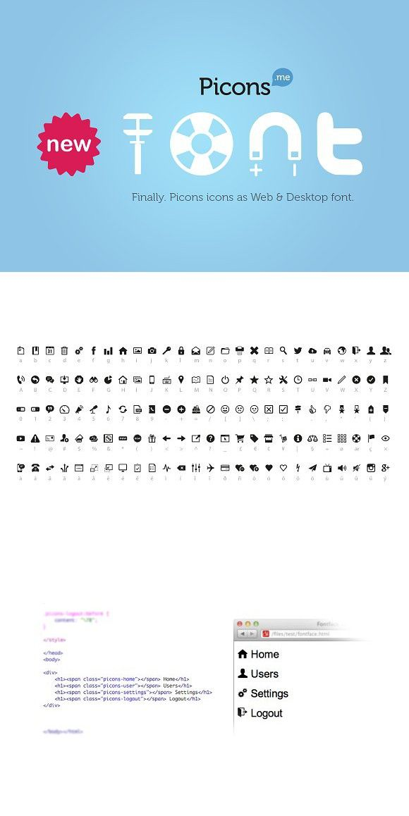 Picons Font Fonts
