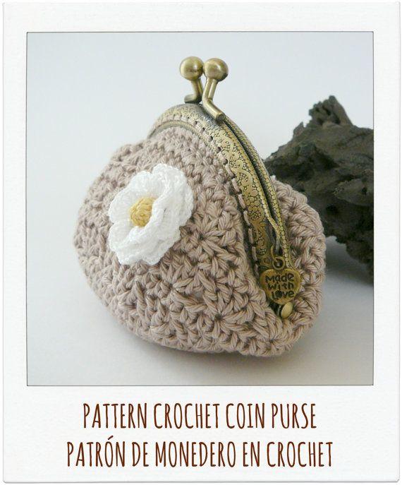PATTERN Crochet Coin Purse {Model nº 5} | Patrones de monederos ...