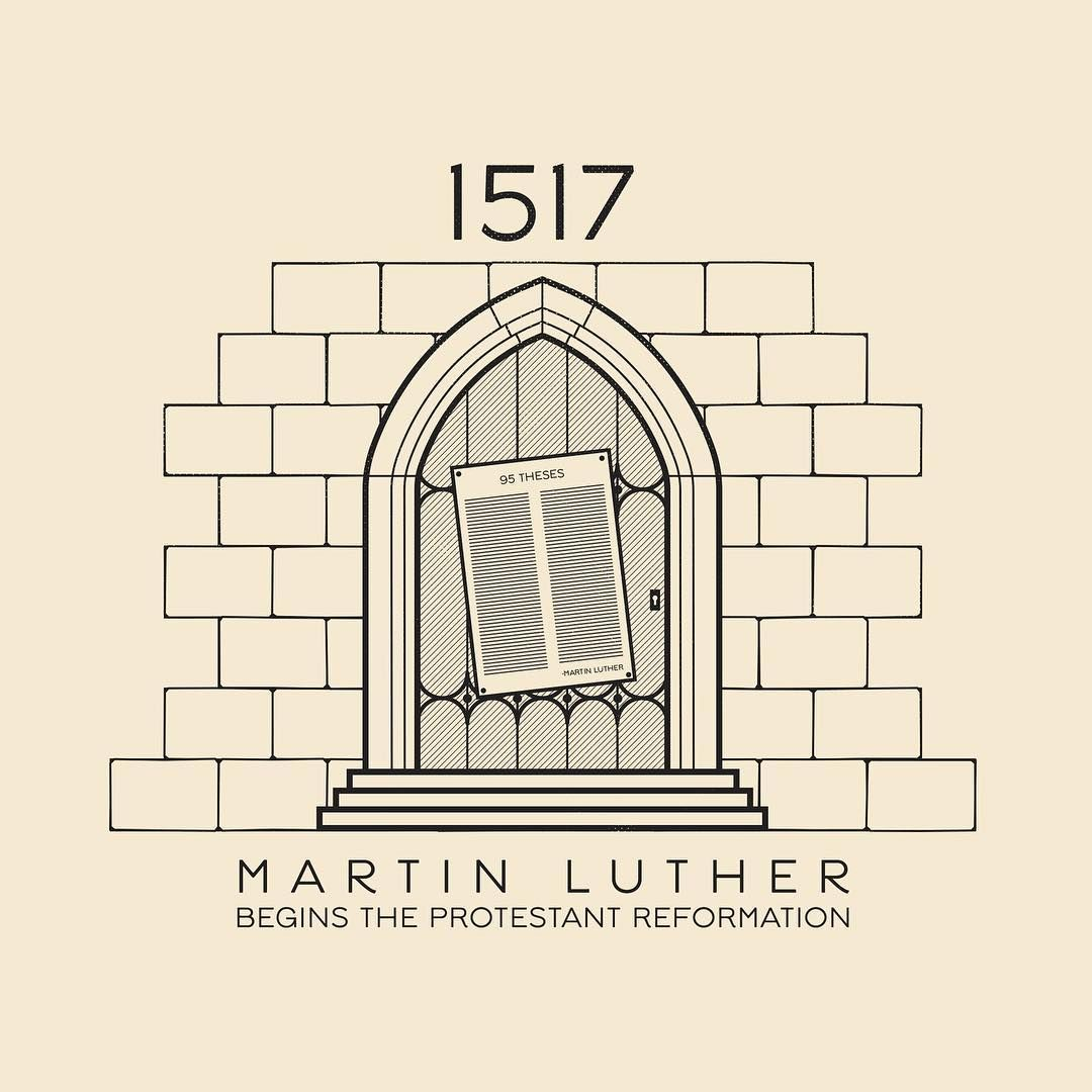 This Day In History Oct 31 1517 Martin Luther Nails His 95 Theses To The Door Of Wittenberg Castle Church Beginning The Luther Mittelalter Schaukasten