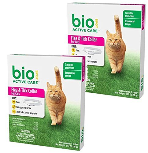 2 Pack Biospot Active Care Flea And Tick Collar For Cats 13 Inch Cat Fleas Flea And Tick Fleas