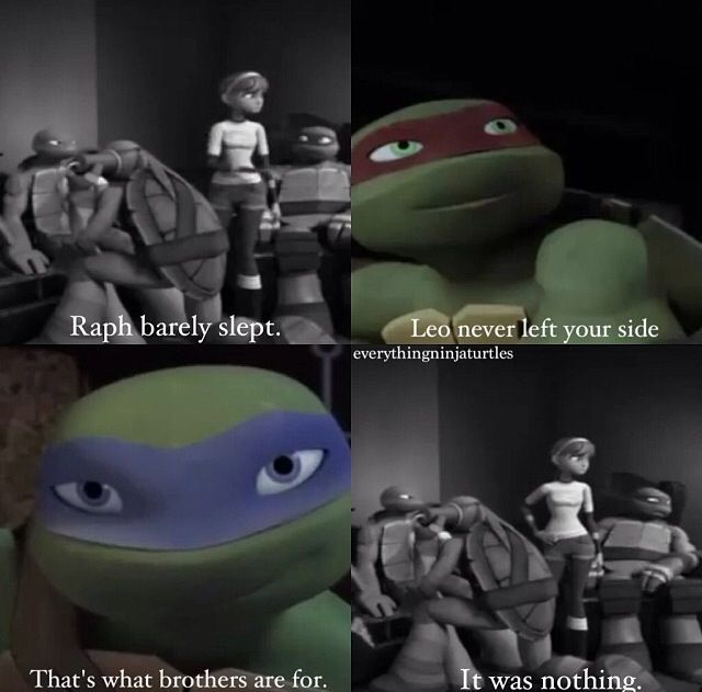 You Can T Say Raph Doesn T Care You Can T Say Leo Doesn T Love