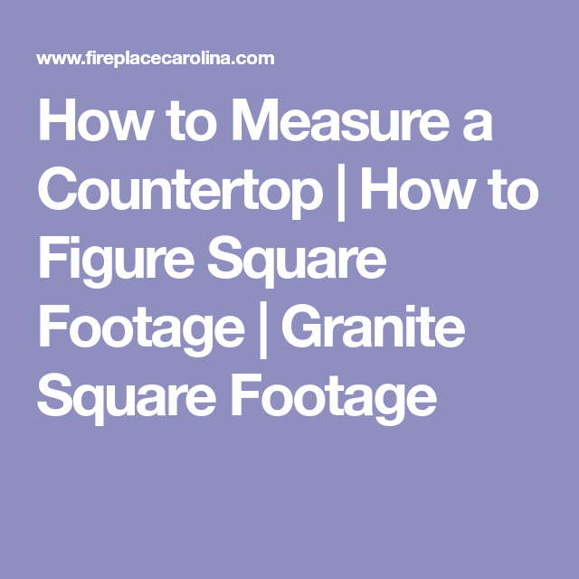 How To Measure For Countertops New Countertops Kitchen Redo