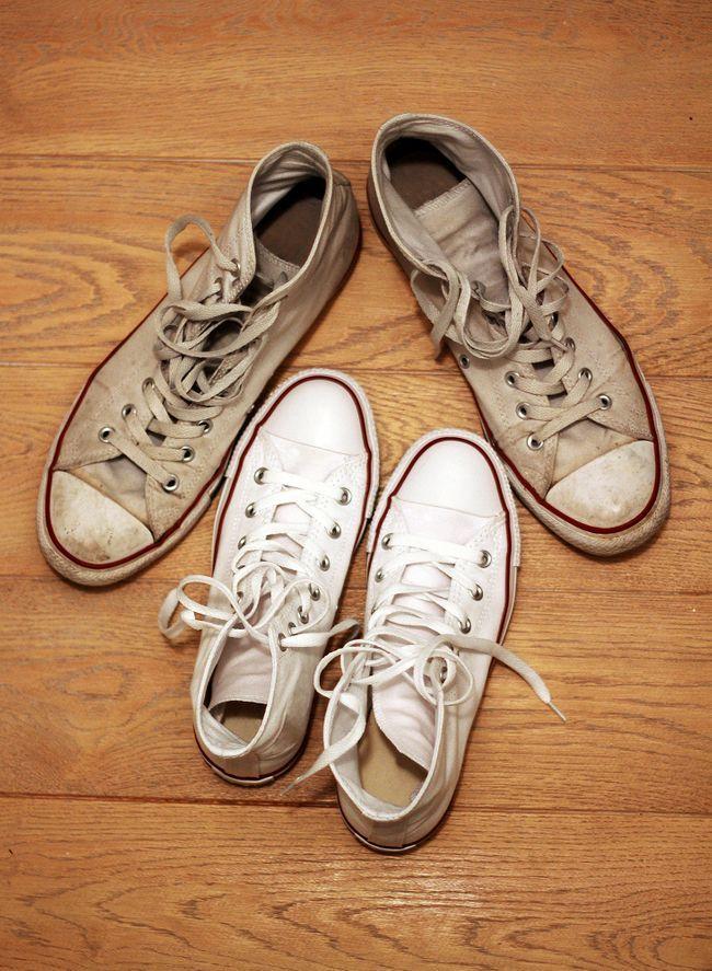 Comment nettoyer des baskets blanches sales? astuces astuces