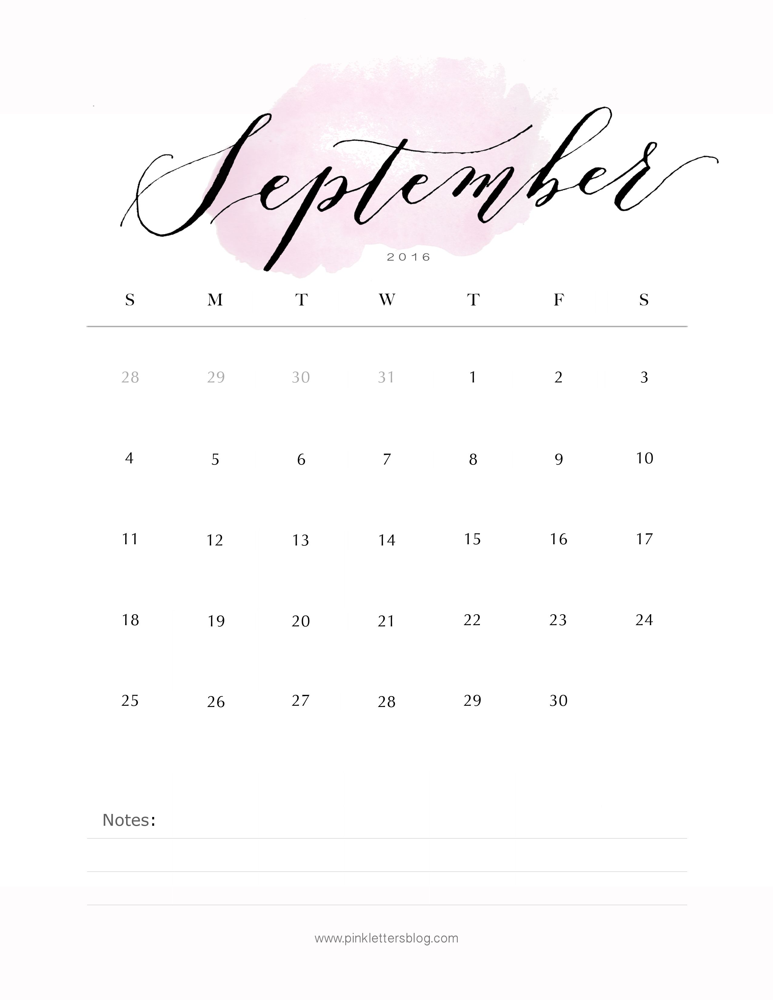 Office Calendar 2016 : Calendar september office space bullet