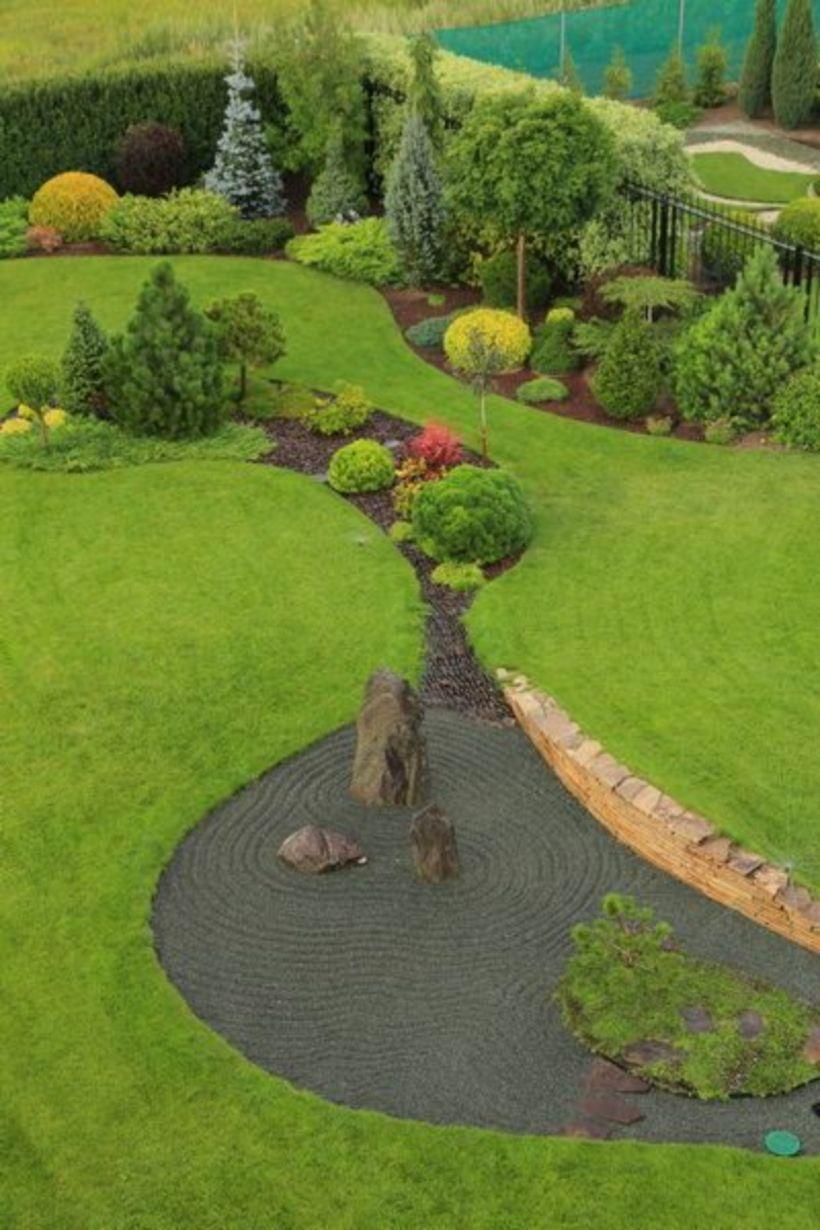 cool 17 Fantastic Big Backyard Landscaping Ideas   Large ...