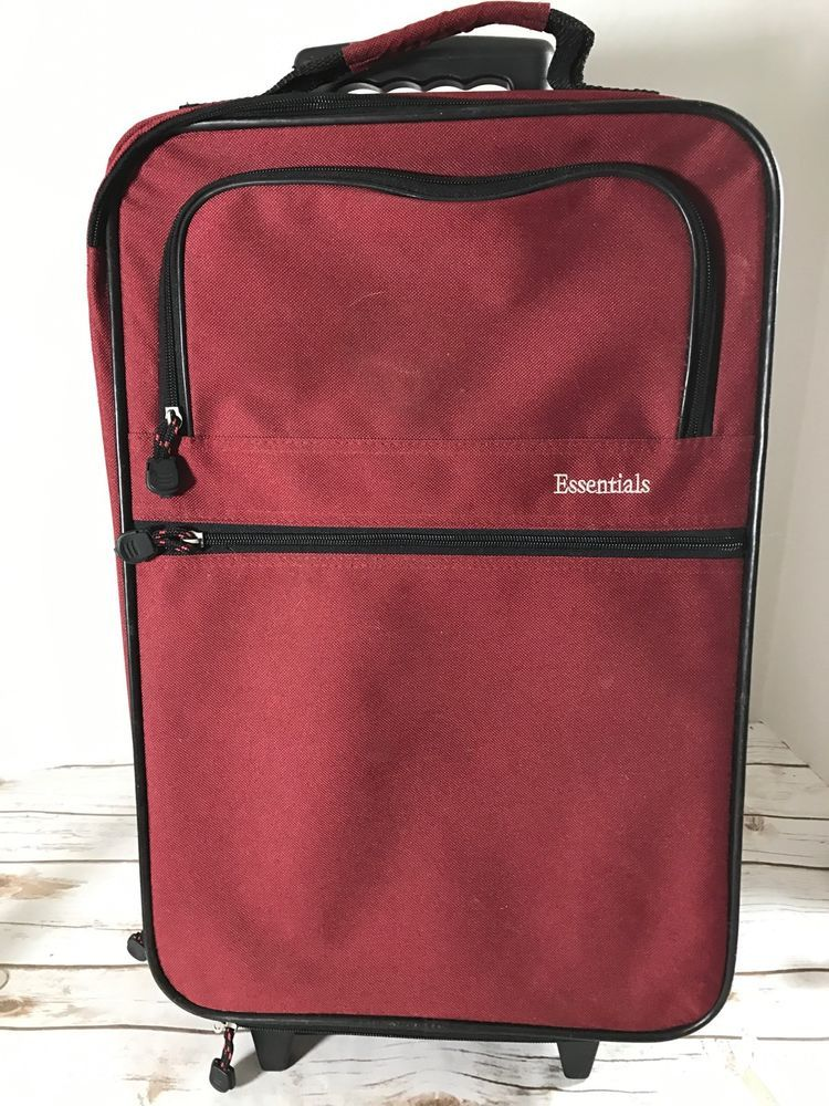 Used Small Lightweight Carry-on Rolling Suitcase Luggage Bag 13x20x6