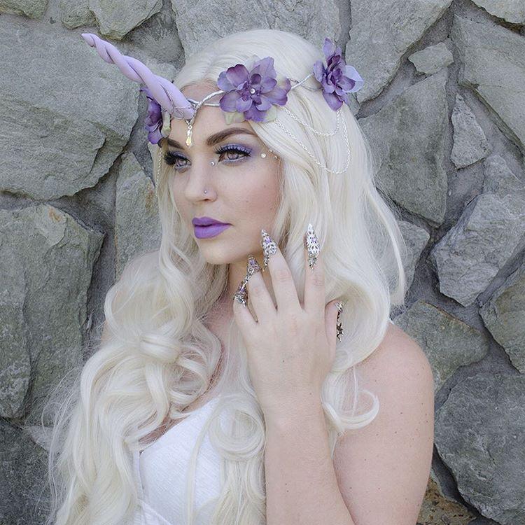 Pastel Purple Unicorn Costume / Makeup Costume makeup